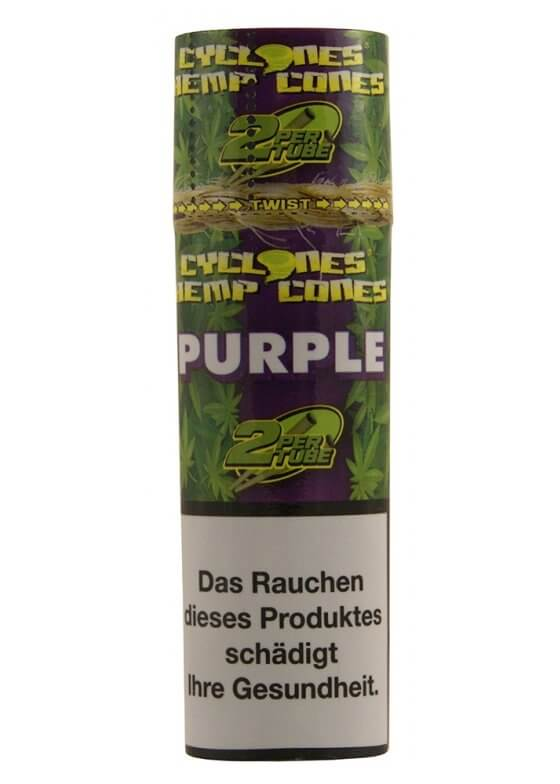"Cyclones Hemp Cones ""Purple"" mit Papierfilter 2er Pack"